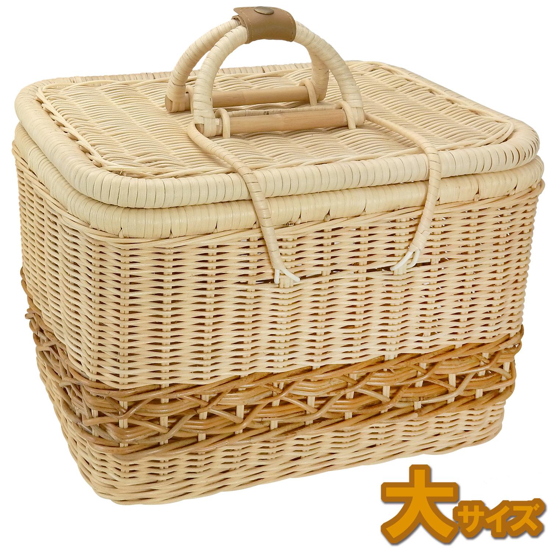 うさぎ用品:バスケット ラパン・ルセットゥ ラタンボックスバスケット【大サイズ】
